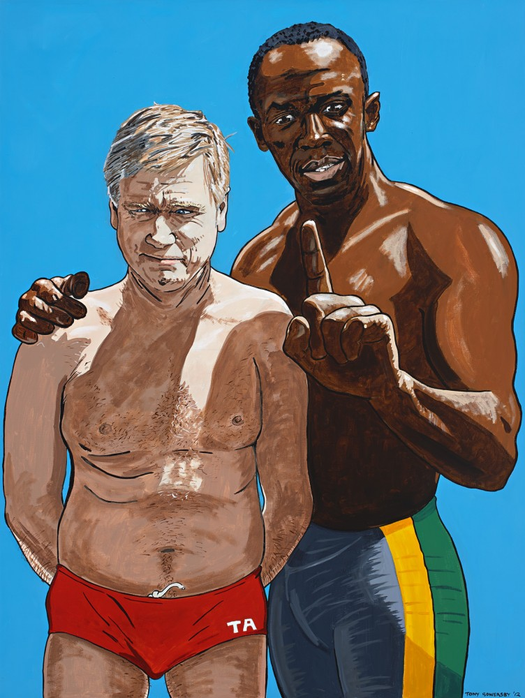 Andrew and Usain Bolt - brothers under the skin. by Tony Sowersby
