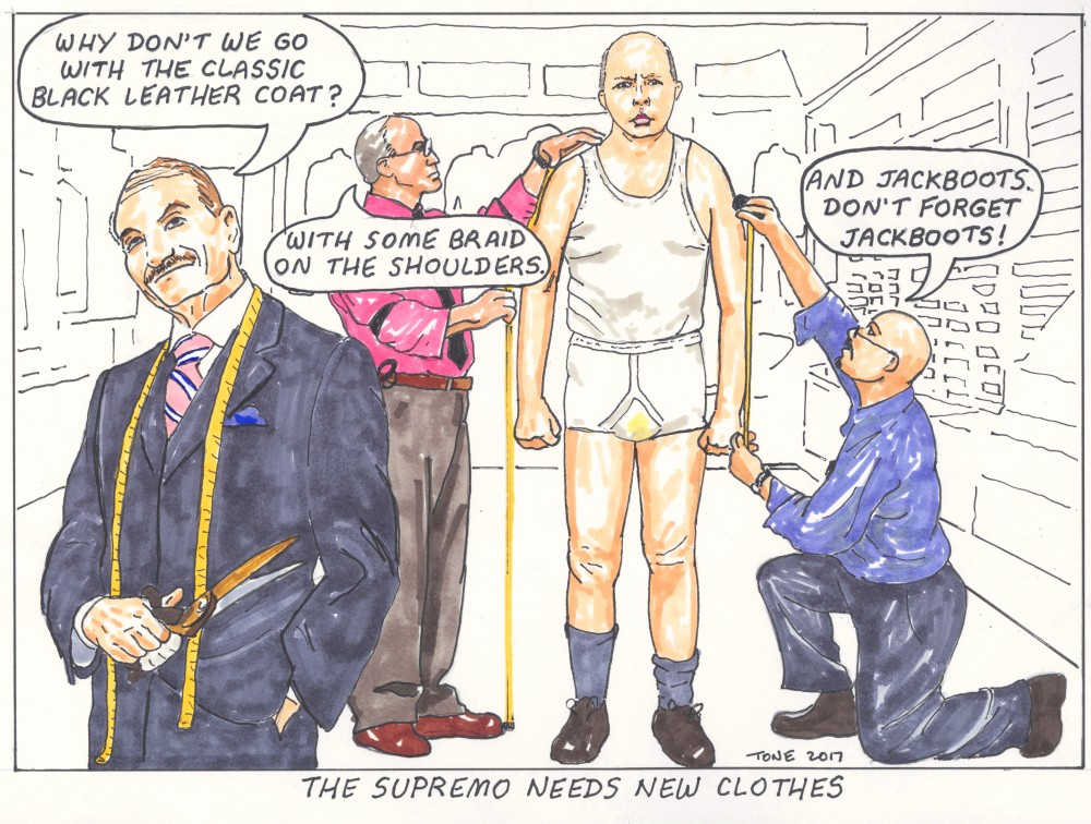 The supremo needs new clothes by Tony Sowersby