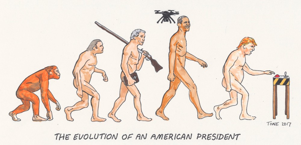 The evolution of an American president by Tony Sowersby