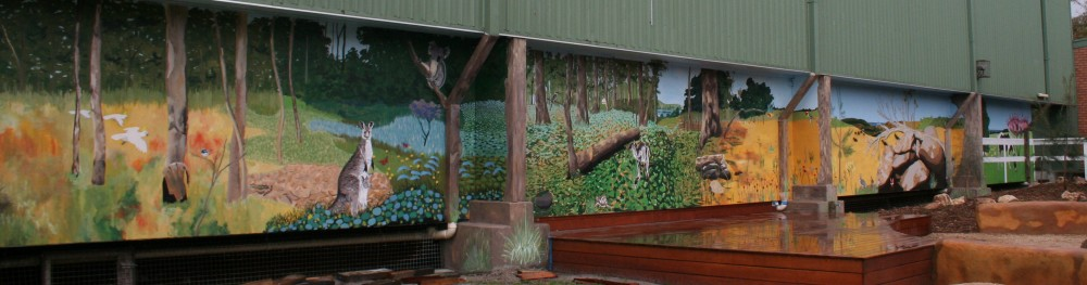 Mural at Frankston High School by Tony Sowersby