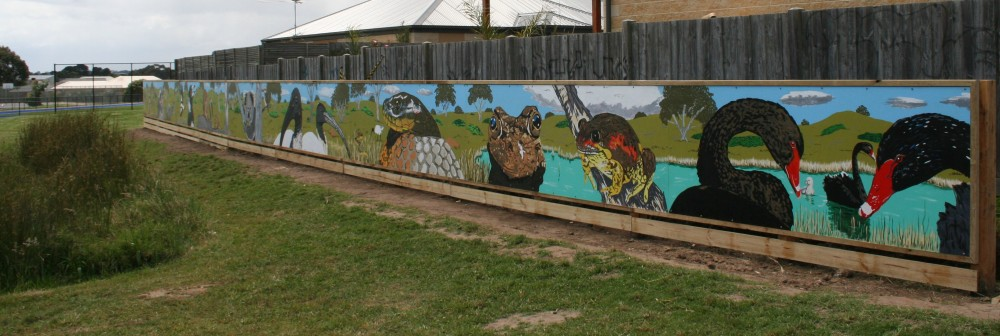 Somerville SC native fauna mural ( alternative view) by Tony Sowersby