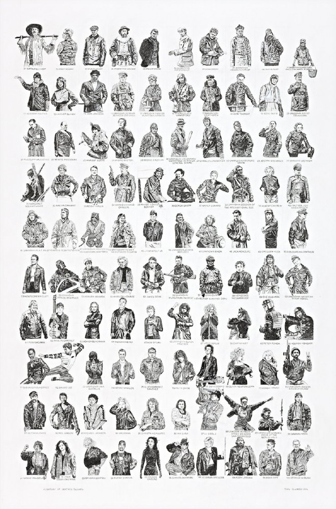 A century of leather jackets. by Tony Sowersby